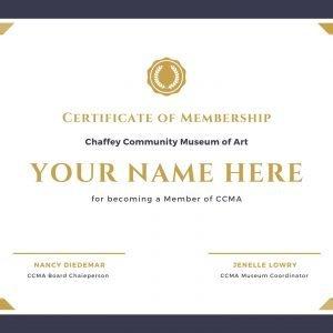 CCMA Member Certificate