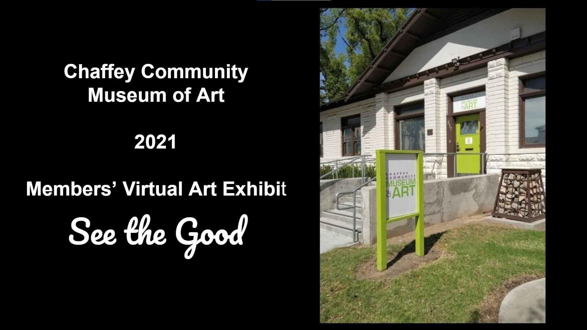 """Title Page - """"See The Good"""" CCMA Virtual Exhibit 2021"""